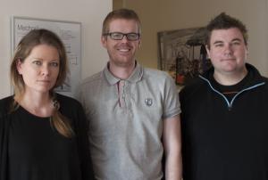 Karin Domeij, Göran Nilsson och Emil Månsson har arbetat med konfiguratorn på Movomech.